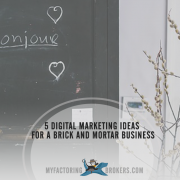 5 Digital Marketing Ideas for a Brick and Mortar Business