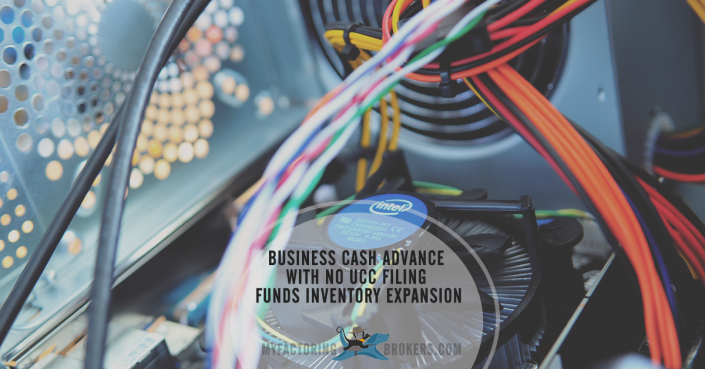 Business Cash Advance with No UCC Filing Funds Inventory Expansion