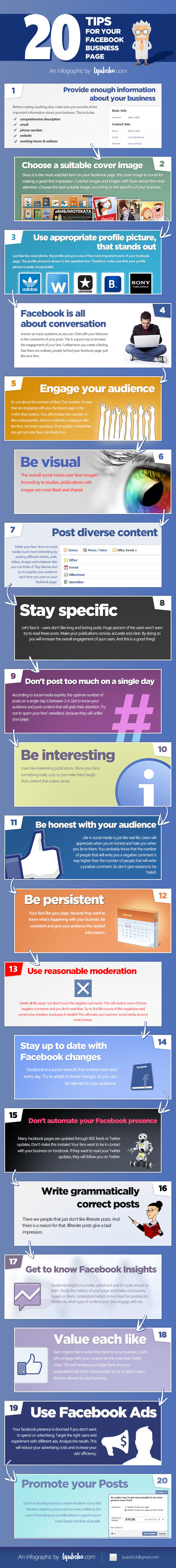 Infographic - 20 ways to improve Facebook business pages