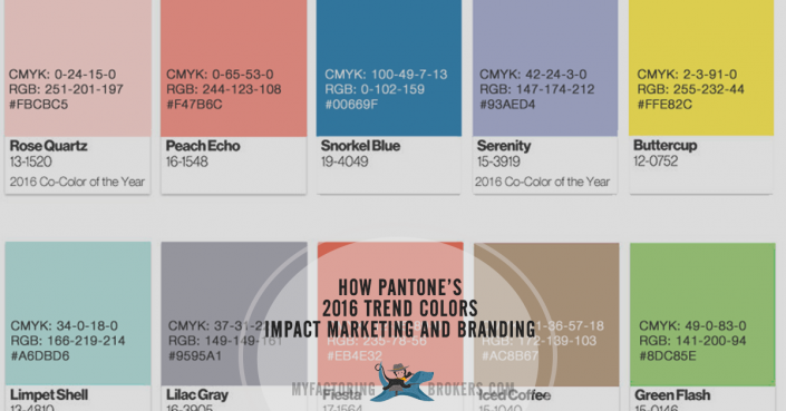 how pantones 2016 trend colors impact marketing and branding