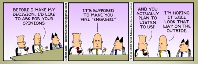 Dilbert employee engagement cartoon