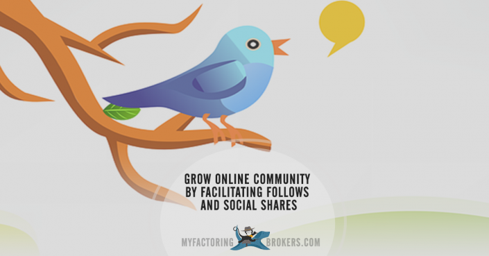 Grow an Online Community by Facilitating Follows and Social Shares