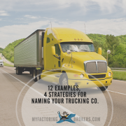 4 Marketing Strategies Behind 12 Trucking Company Name Ideas